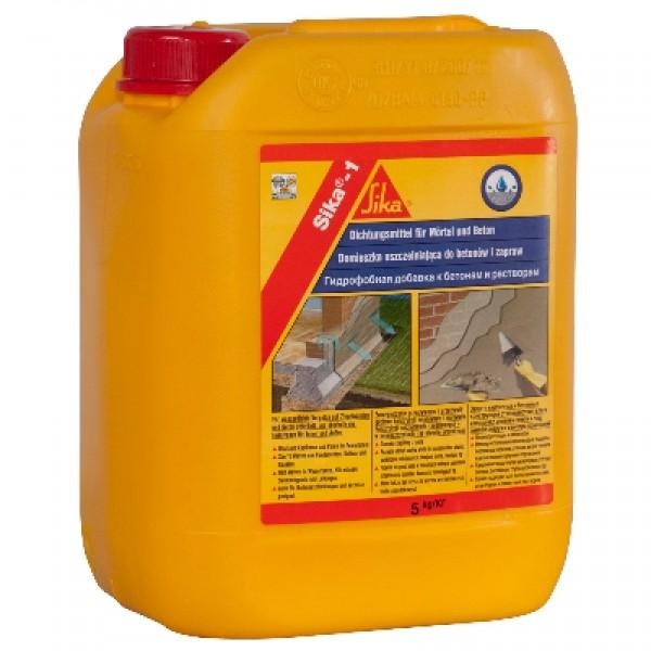 Гидрофобизирующая добавка для растворов Sika-1; 5 кг.