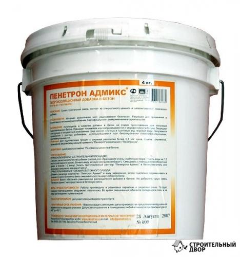 Гидроизоляционная добавка в бетон от 1%