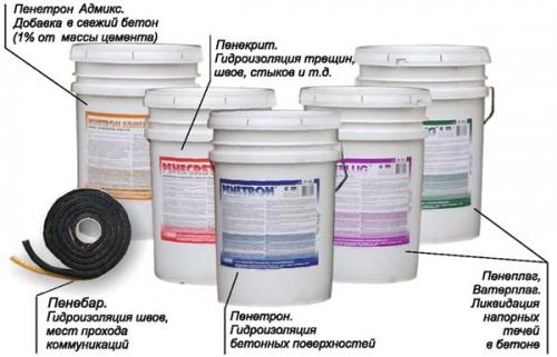 Гидроизоляция бетона марки Пенетрон