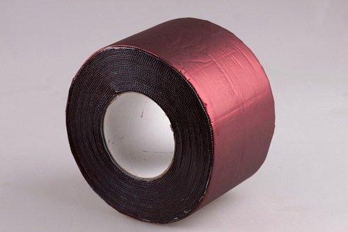 Фото  1 Лента полимерно битумная 15см Plastter темно-красная 1867496