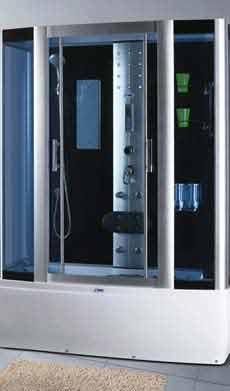 Гидромассажный паровой бокс SWD 1810 с джакузи Размер 170x85x215 см Глубокий поддон 42 см