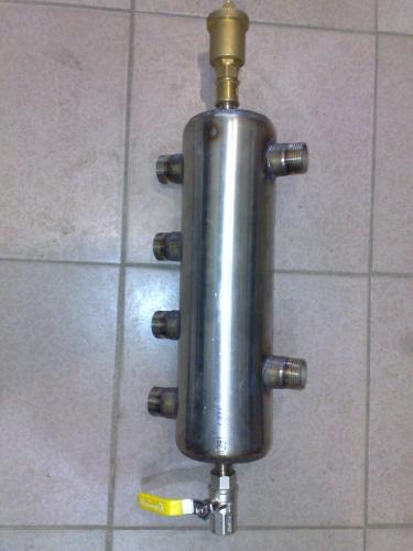 """Гидрострелка до60кв для подключения 2х котлов(ТТ Электро) либо (ТТ газо) Присоединение 1"""""""