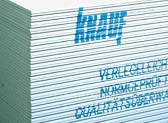 Гипсокартон стеновой влагостойкий 3,0х1,2м. толщина 12,5мм. Knauf. Доставка по городу. Профиля и комплектующие.