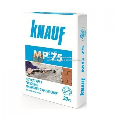 Фото  1 Гипсовая машинная штукатурка Кнауф МП-75 (Knauf MP-75) (30 кг) 1750058