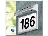 Фото  1 Уличная светодиодная табличка Номер дома Globo LED Solar на солнечной батарее, IP44 1626833