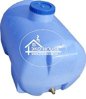Горизонтальная емкость пластиковая для воды 85 литров.