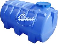 Горизонтальная пластиковая емкость(бак) 1000 литров.