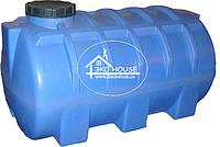 Горизонтальная пластиковая емкость(бак) 1500 литров.