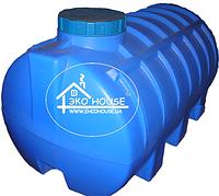 Горизонтальная пластиковая емкость(бак) 2000 литров