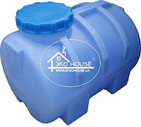 Горизонтальная пластиковая емкость(бак) 250 литров.