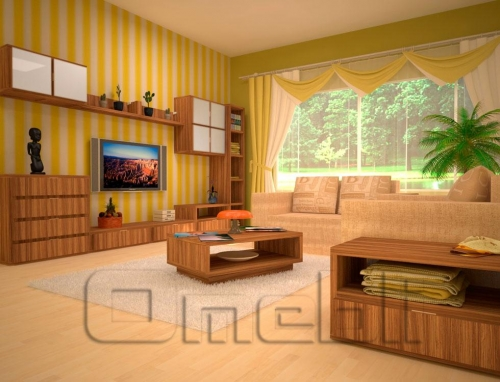 Гостиная комната Берлин – Зебрано 1238556