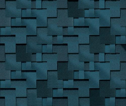Готик Синяя ночь. Битумная черепица ТЕГОЛА (TEGOLA) линии Супер.