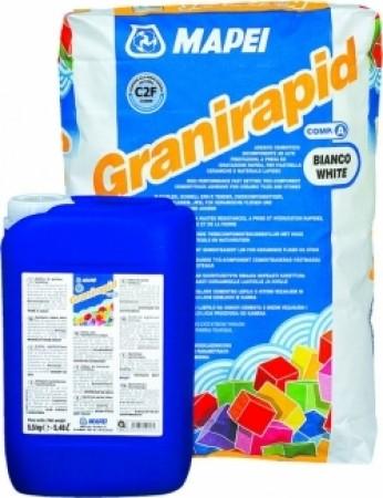 GRANIRAPID -швидкотвердіючий двохкомпонентний високоеластичний клей для любих типів плитки і штучного каменю