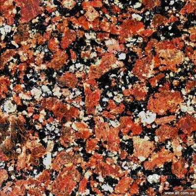 Гранитная плита Капустянская 600*300*20 полир. Изделия из камня. Столешницы из гранита и мрамора. Ступени из гранита.