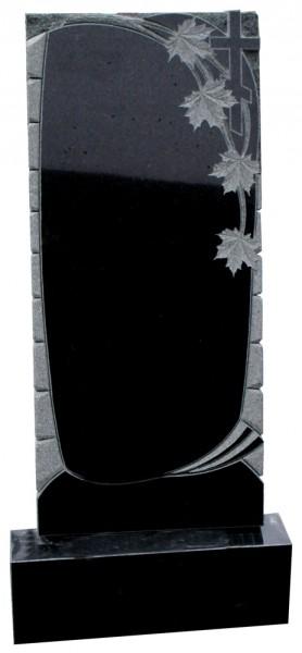 Гранитный памятник в комплекте с художественными работами . Кленовые листья.