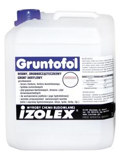 Gruntofol - гидрофобная грунтовка для укрепления поверхности, на акриловой основе.