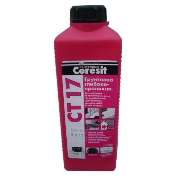 Грунтовка Ceresit СТ 17 Супер бесцветная (2л)