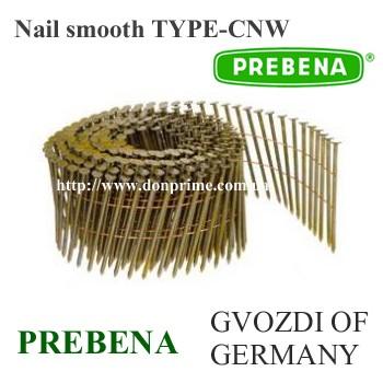 Гвоздь бобинный CNW столярный для пневмопистолета