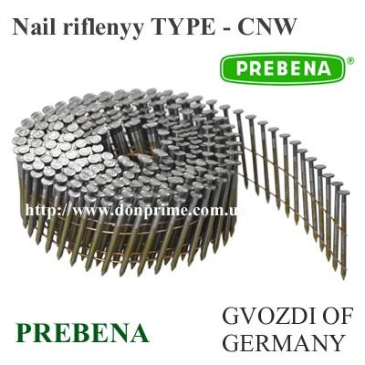 Гвоздь столярный Тип-CNW (2,1x25 - 3,4x90 мм) для пневмопистолета