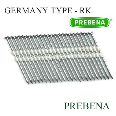 Гвоздь винтовой в кассете для пневмопистолета Тип - RK