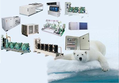 холодильное промышленное оборудование: холодильные агрегаты, установки охлаждения жидкости, теплообменники, чиллеры,