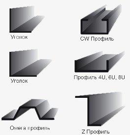 Фото  1 Холоднокатаные строительные профили типа Z, ZW, U, C 1423008