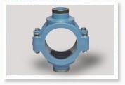 Хомут для врезки в водопроводную ПЭ трубу диаметры 25,32,40,50,63,75,90,110,160,200