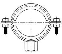"""Хомут-гайка М10 """"GM"""" 4"""" (112-117 мм. ; Ду 100)"""