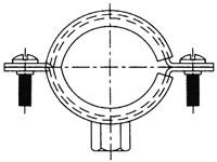 """Хомут гайка М8 """"GM"""" 3/4 (27-29 мм. ; Ду 20)"""
