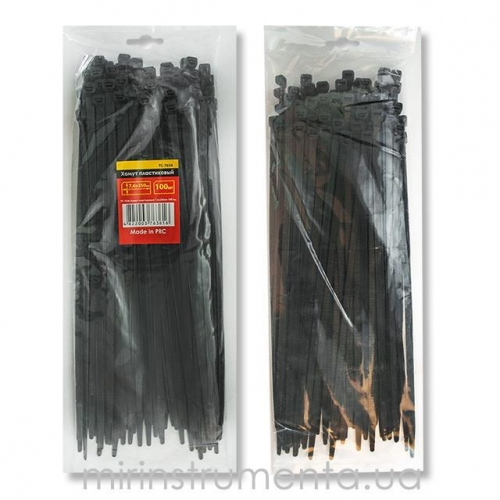 Хомут пластиковый INTERTOOL TC-3621 (черный)