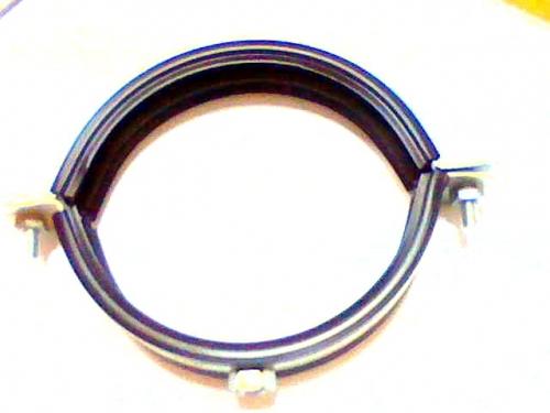 """Хомут стальной оцинкованный для труб с резиновым вкладышем от 1/4"""" до 1250мм"""