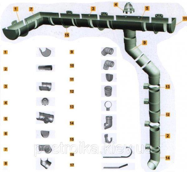 Фото  1 Хомут труби металевий D-86 (Шпилька L-160) Standart 120/86 1756680