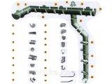 Фото  1 Хомут трубы металлический D-80 (Шпилька L-160)Standart 120/80 1756680