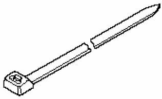 Хомуты для крепления греющего кабеля к арматурной сетке