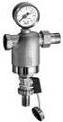 Хромированный фильтр FAR НР-ВР с манометром для механической очистки воды