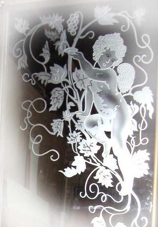 Художественная обработка стекла. Пескоструй.