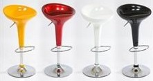 Барный стул HY 102 белый, молочный, оранжевый, св-зеленый, красный, серебро, черный, коричневый Киев