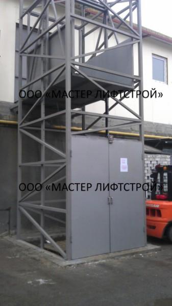 Самонесущий подъемник шахтно-клетьевого типа под заказ.