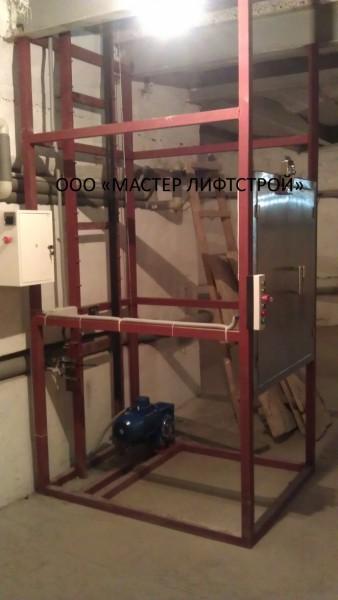 Подъёмник для столовой размеры под заказ. Кабина проходная из нержавеющей стали.