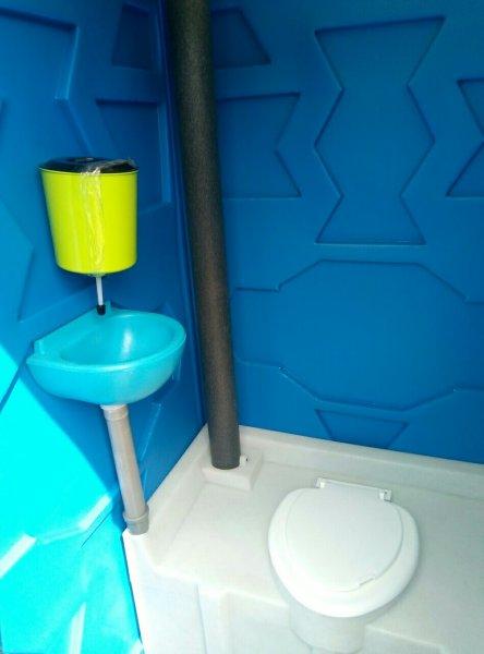 Фото  1 Биотуалет пластиковый передвижной 1808789