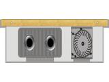 Конвектор внутрипольный с принудительной конвекцией короб из стеклопластика с деревянными решетками
