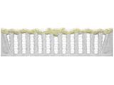 Еврозабор Плита №33 Виноград глухая с открытыми балясинами ШхВ 2000х500