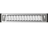 Двухсторонний забор Плита №53 Двухсторонняя открытая арка с балясинами ШхВ 2000х300