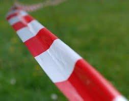 Фото 3 Лента оградительная (сигнальная) красно-белая, 72мм х 500м (Украина) 332020