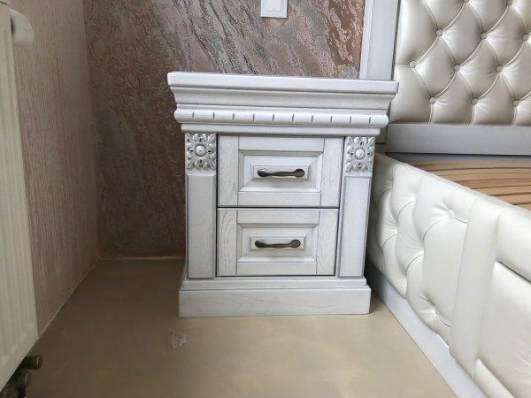 Фото 4 Эксклюзивная Кровать с мягким изголовьем. Нат. кожа. Дуб. 338511