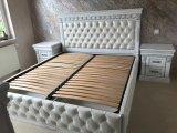 Фото 2 Эксклюзивная Кровать с мягким изголовьем. Нат. кожа. Дуб. 338511