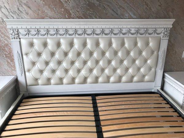 Фото  1 Эксклюзивная Кровать с мягким изголовьем. Нат. кожа. Дуб. 2084947