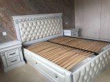 Фото 7 Эксклюзивная Кровать с мягким изголовьем. Нат. кожа. Дуб. 338511