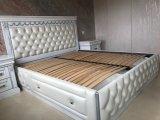 Фото 1 Эксклюзивная Кровать с мягким изголовьем. Нат. кожа. Дуб. 338511