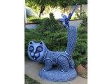 Фото  1 Скульптура Кіт. Садово-паркова скульптура. Матеріал: композит. Розмір: 1050х950мм. 2151328